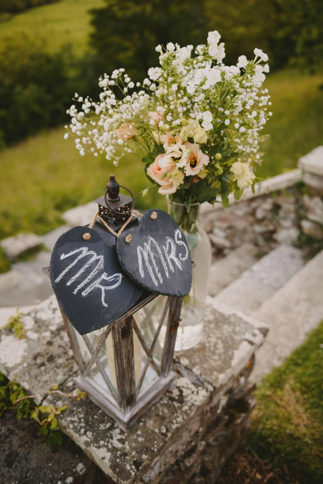 Outdoor wedding venue at Pamflete House, Flete Estate