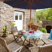 Terrace at Flete Mill Lodge