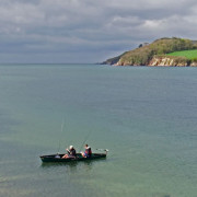 Mackerel fishing at high tide