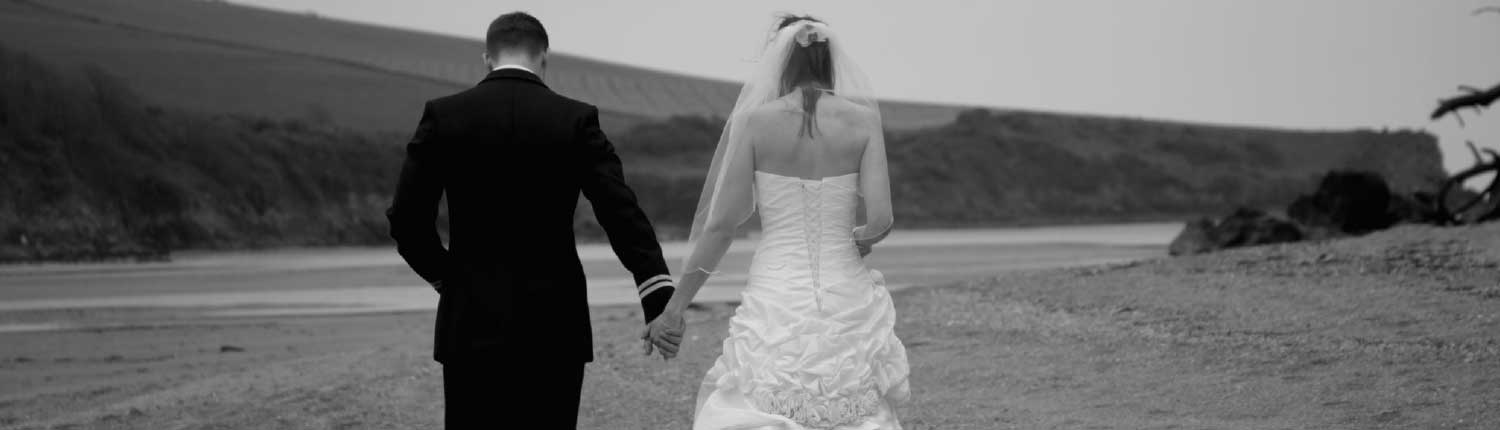 Bride and groom on Coastguards beach