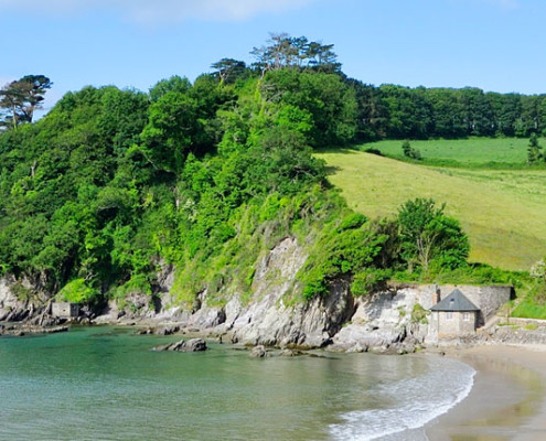 The teahouse on mothecombe beach