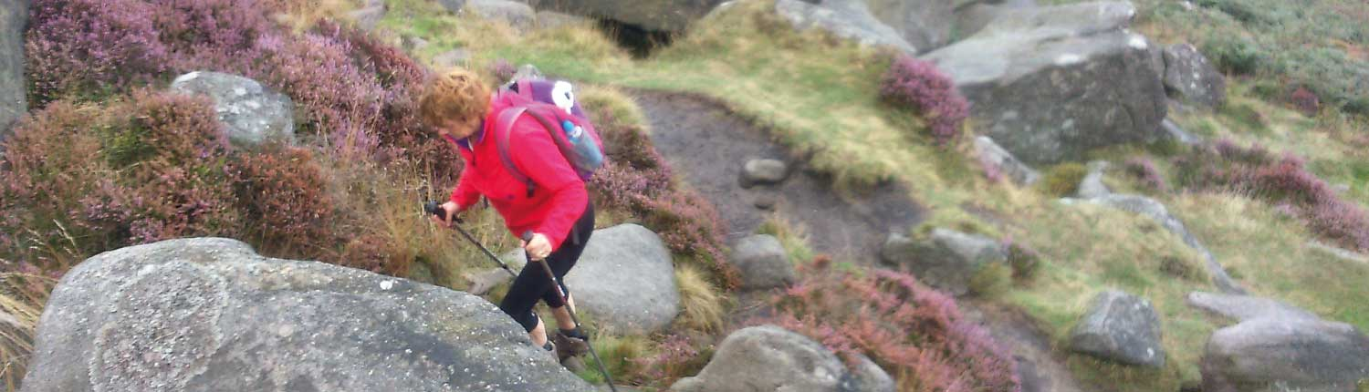 Walking up a Dartmoor tor