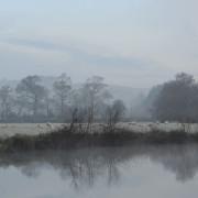 Frosty fields at Flete