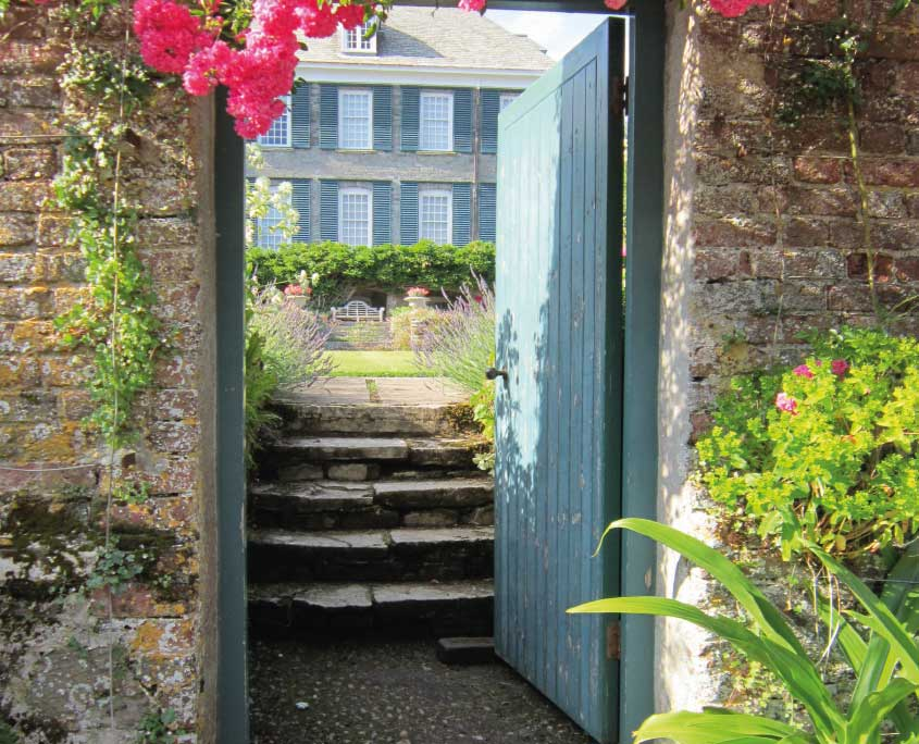 Steps into Mothecombe walled garden