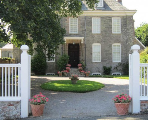 Mothecombe House entrance