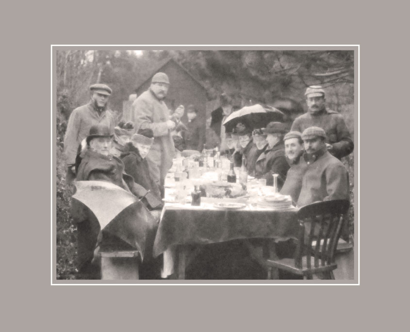 A Victorian shooting lunch outdoors