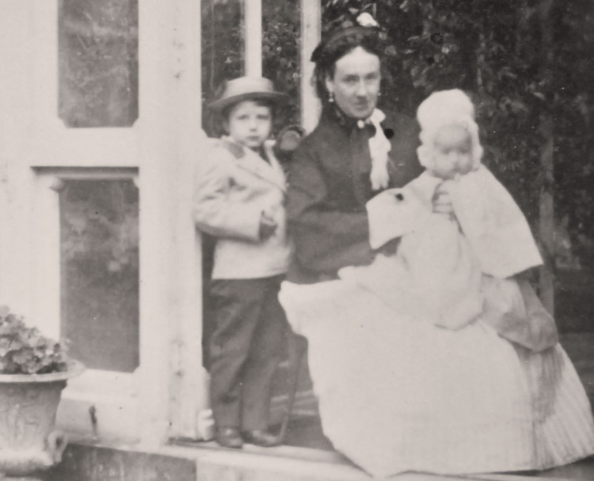 Lady Mildmay with her children