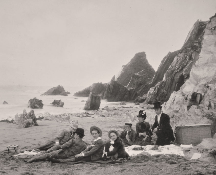 Victorian picnic on Mothecombe Beach