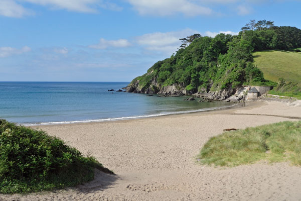 Mothecombe Beach with Beach House