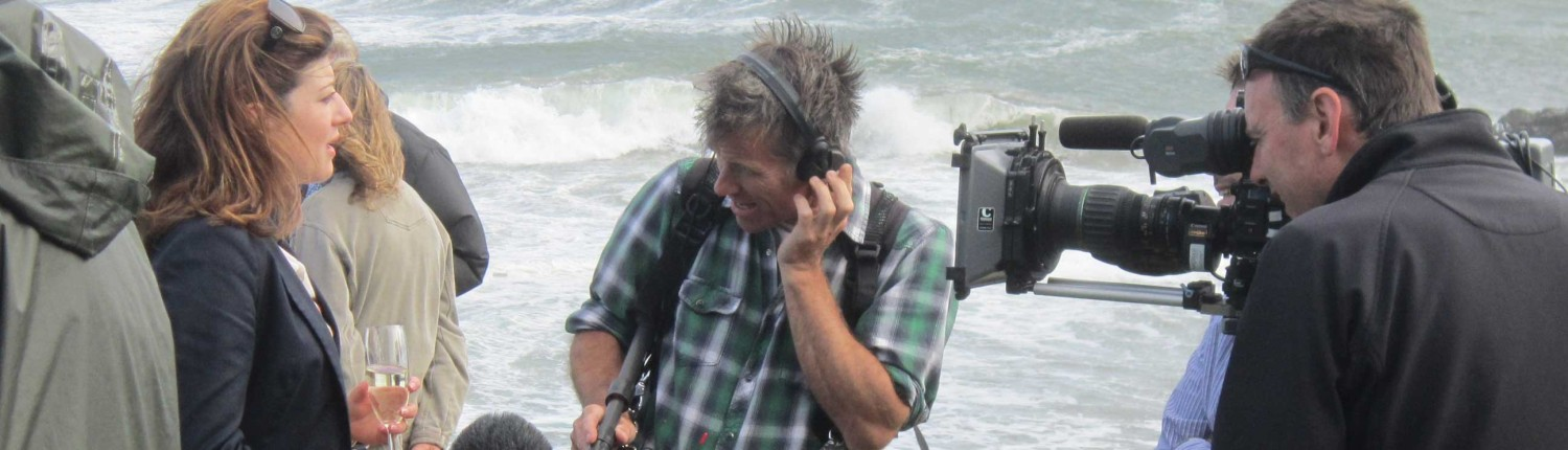 Filming on Mothecombe Beach