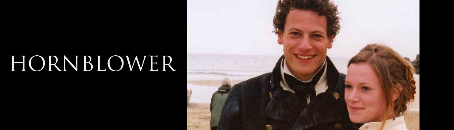 Ioan Gruffyd filming Hornblower on Mothecombe beach