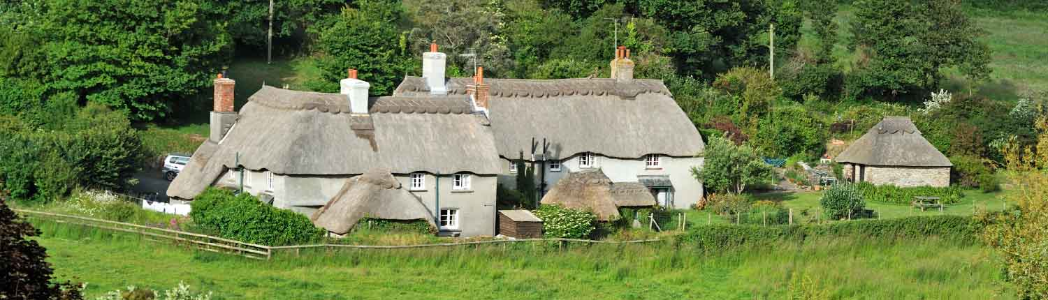 cottages in Mothecombe hamlet