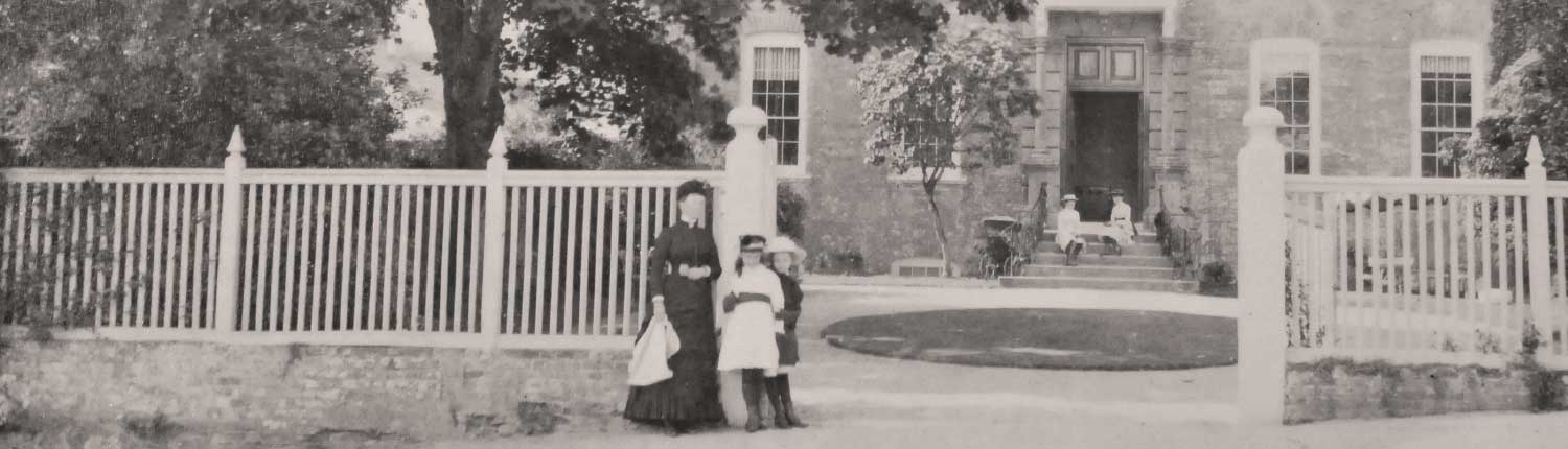 Victorian photo , front of Mothecombe house