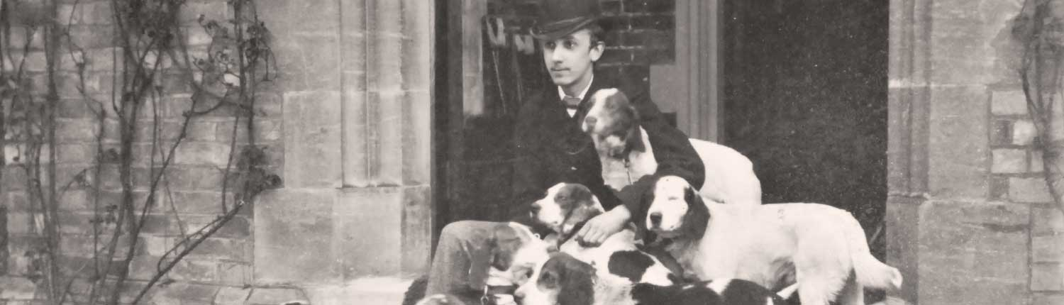 Frank Mildmay with hounds