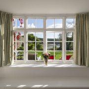 Efford TV room window view