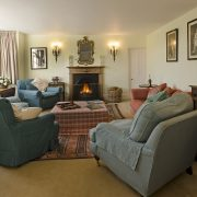 Efford Sitting Room with fire