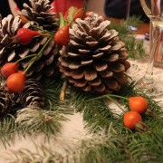 Christmas Pine cones table decoration