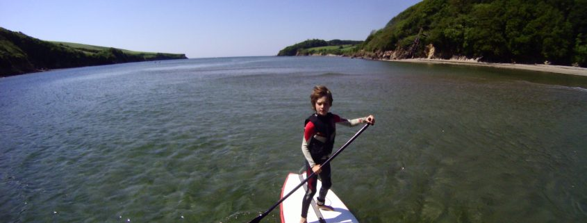 Paddleboarding on the Erme Estuary