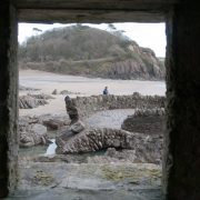 Mothecombe old bathing pool from WW2 pillbox