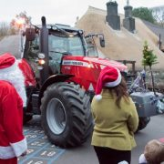 Santa Clause and Tractor at Holbeton School