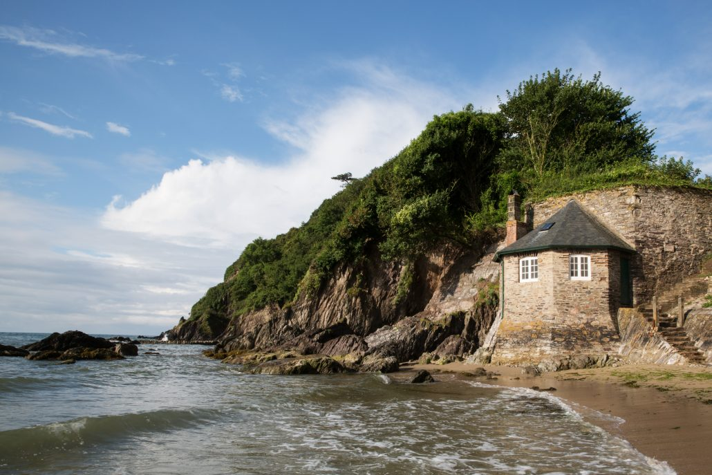 Mothecombe Beach House, Victorian beach hut, flete estate