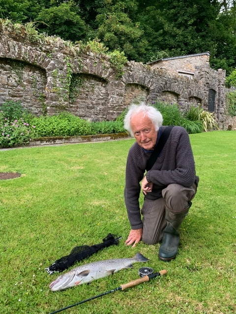Sea trout, fly fishing, Flete Estate, weir pool, conservation
